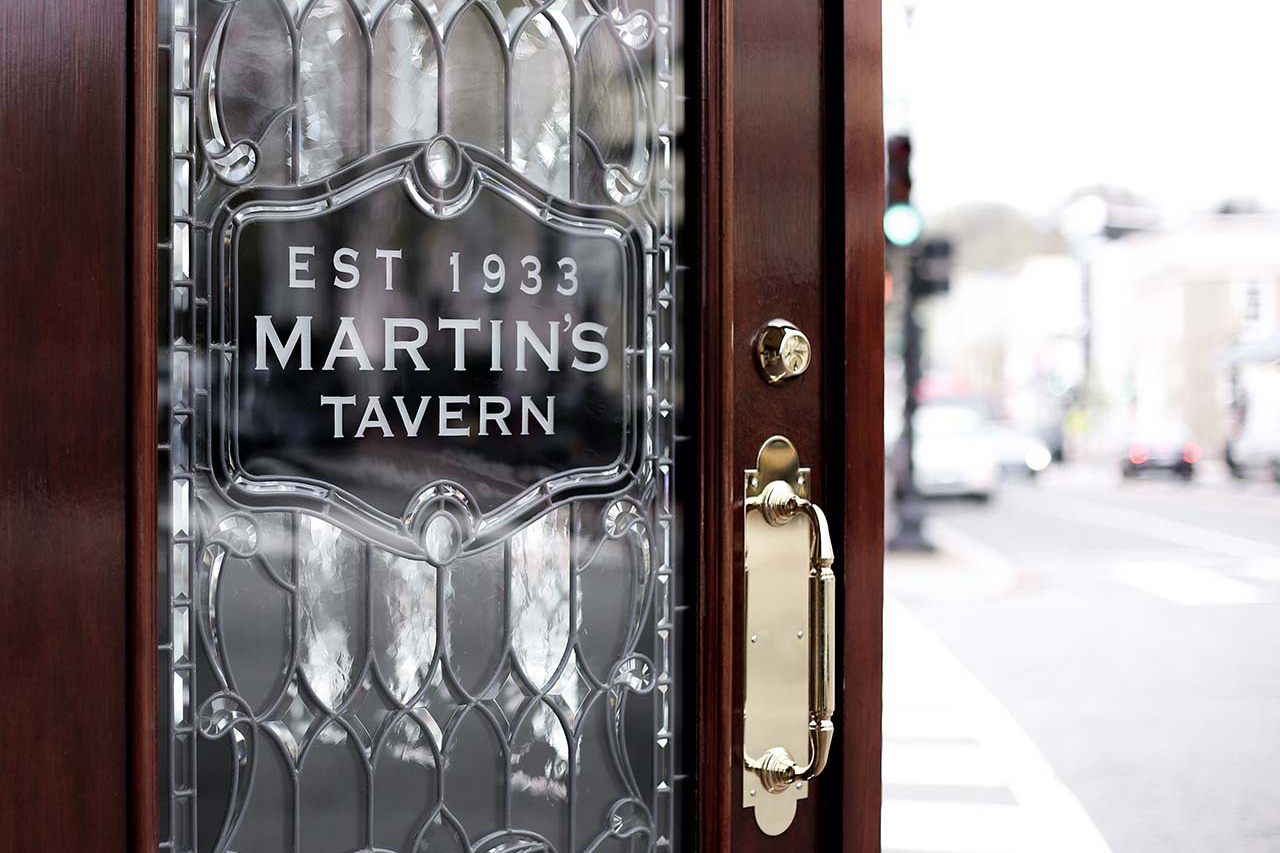 Front door of Martin's Tavern