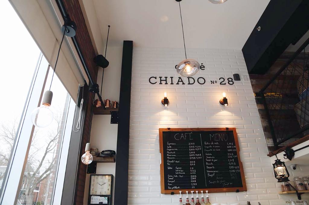 Chiado's menu