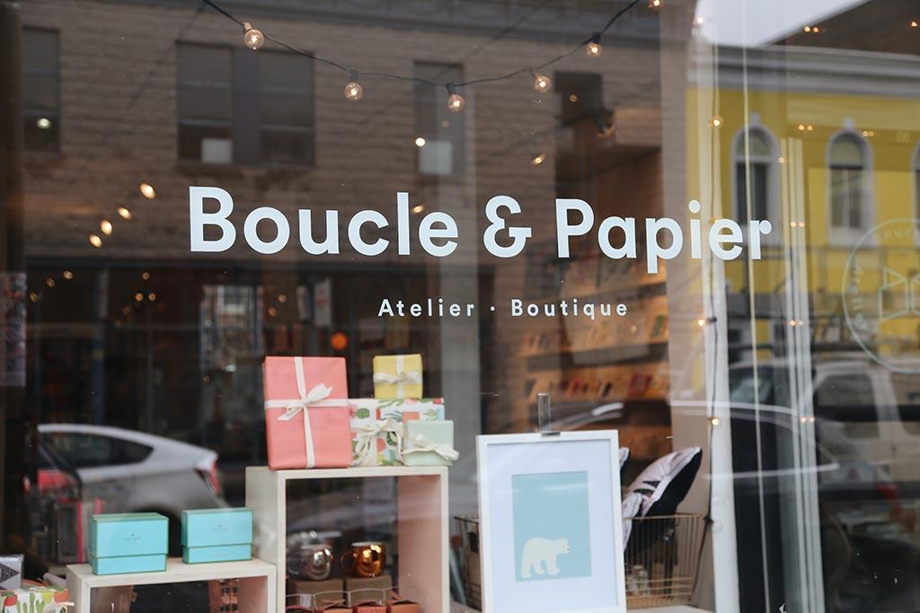 Storefront Boucle & Papier