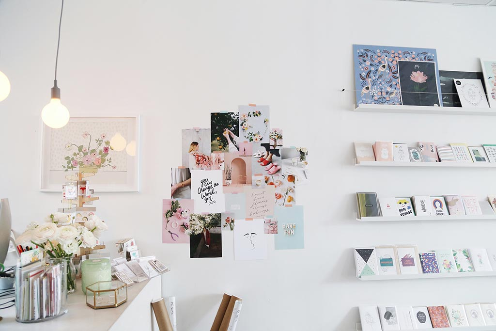 Wall hangings in Boucle and Papier