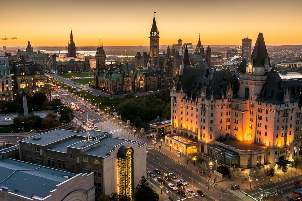 Shot of downtown Ottawa