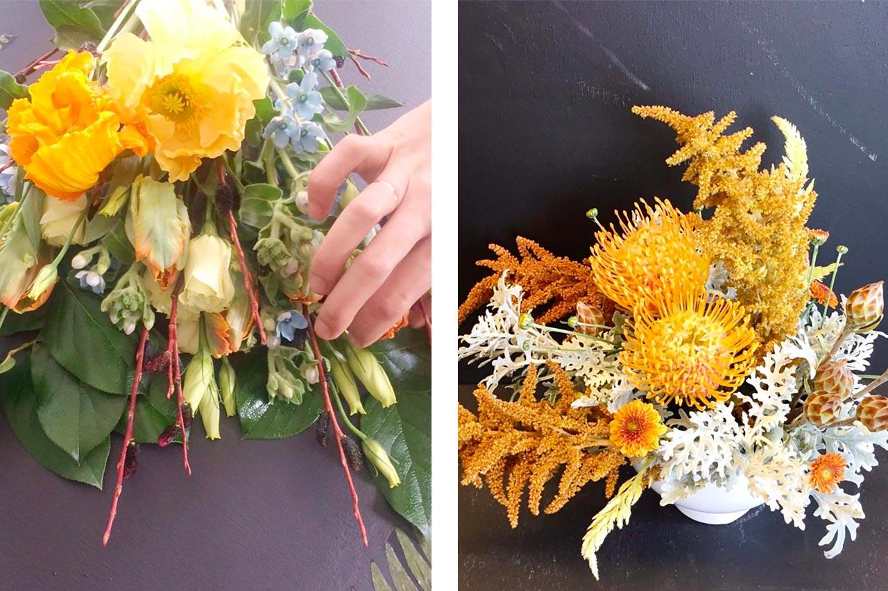 Floral arrangements by Van Harten & Tossell Flowers