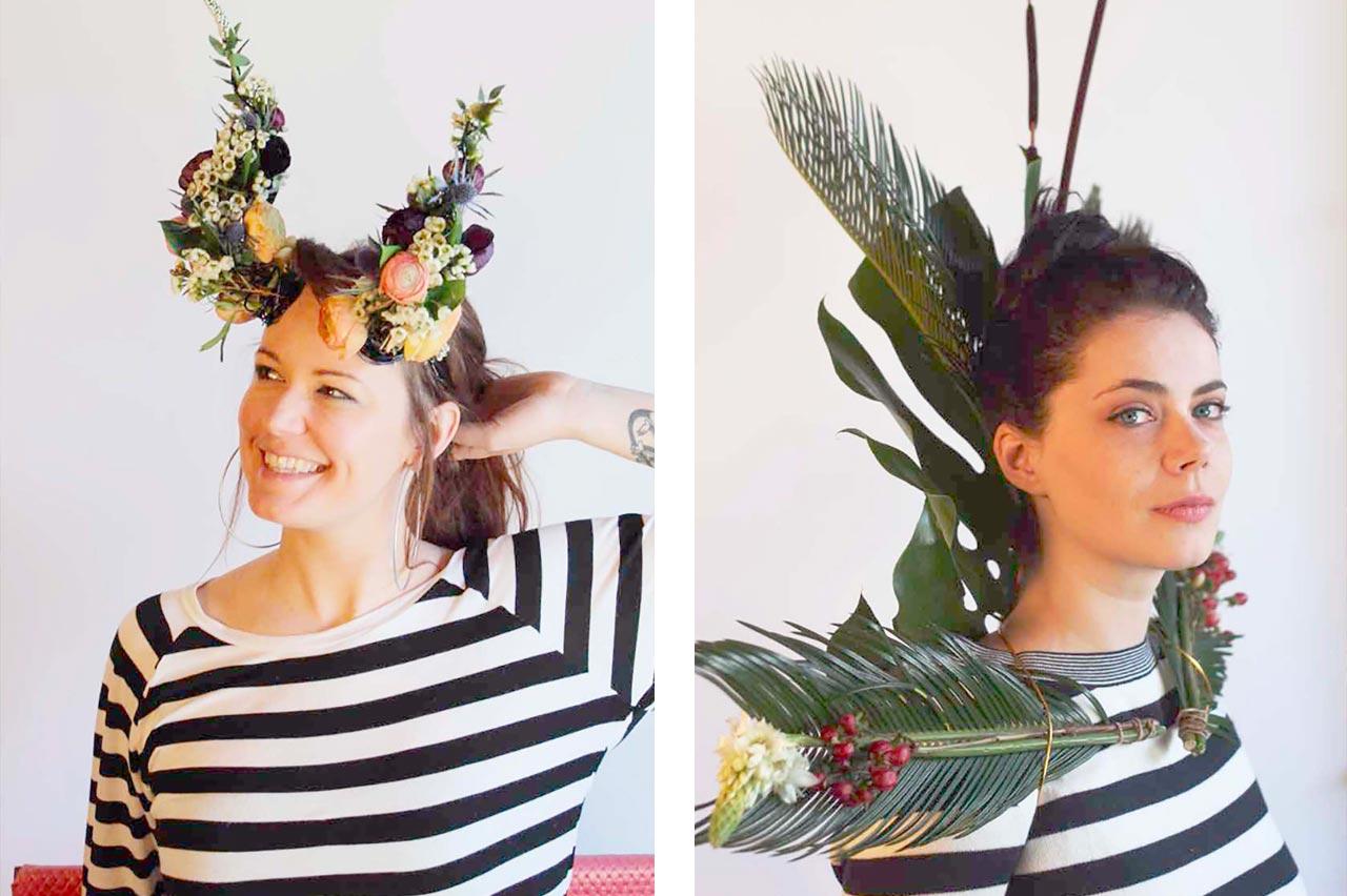 Dayne and Gwyneth in flower crowns