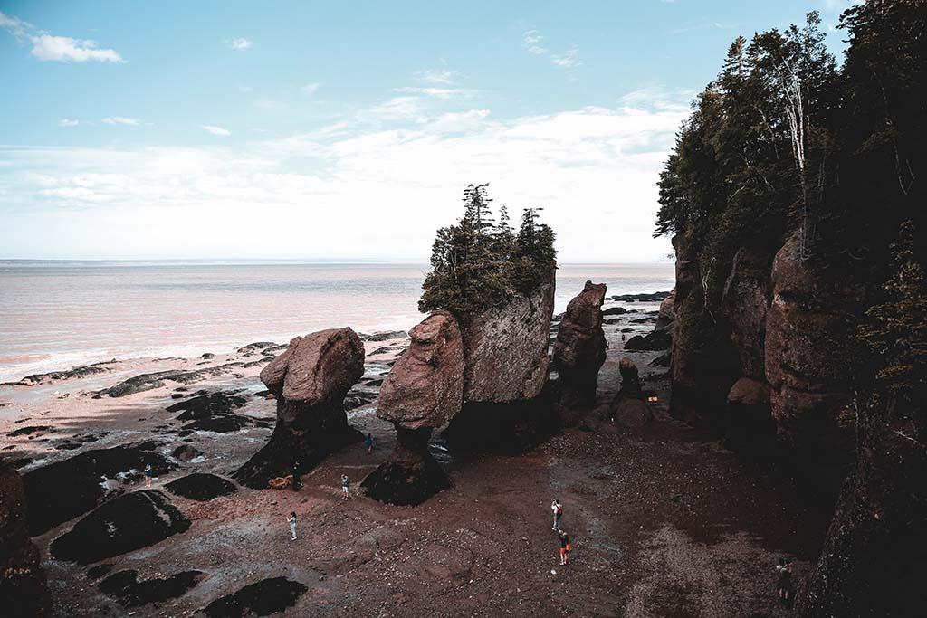 Low tide of Hopewell Rocks