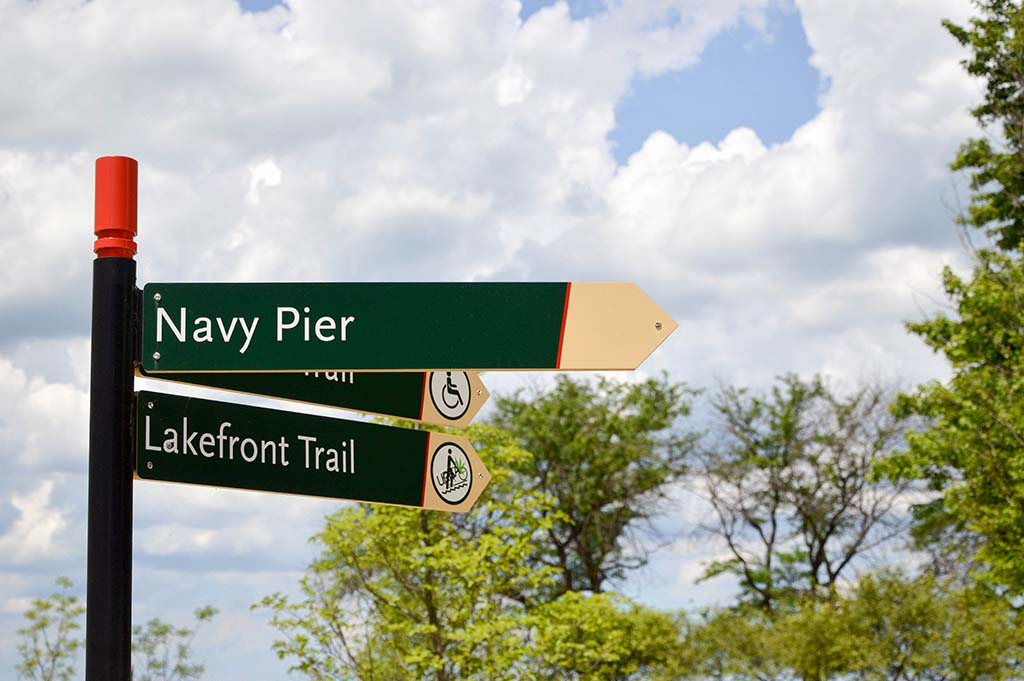 This way to Navy Pier!