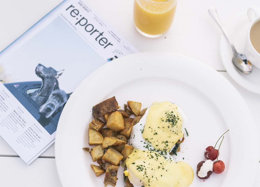 Crab cake eggs Benedict for breakfast