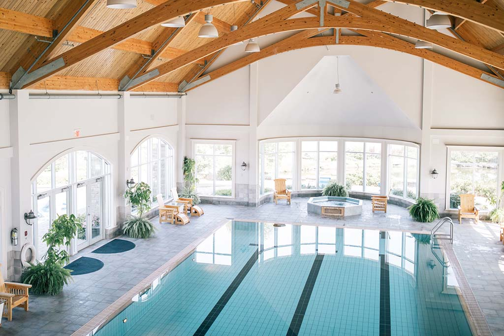 Indoor swimming pool at Fox Harb'r