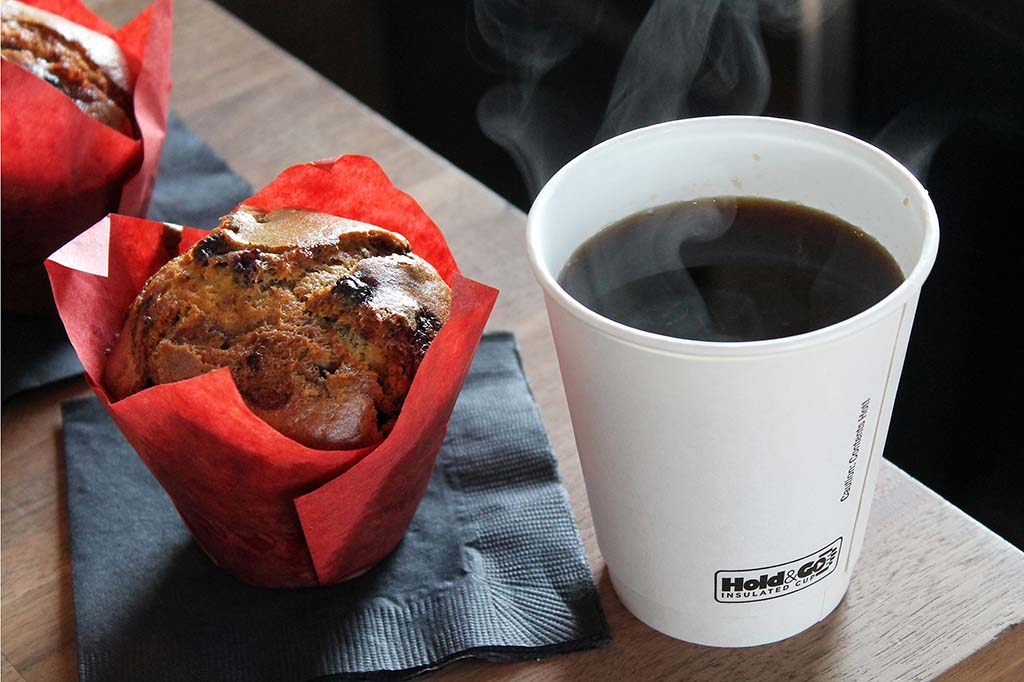 Coffee and Muffin at Curds N Whey