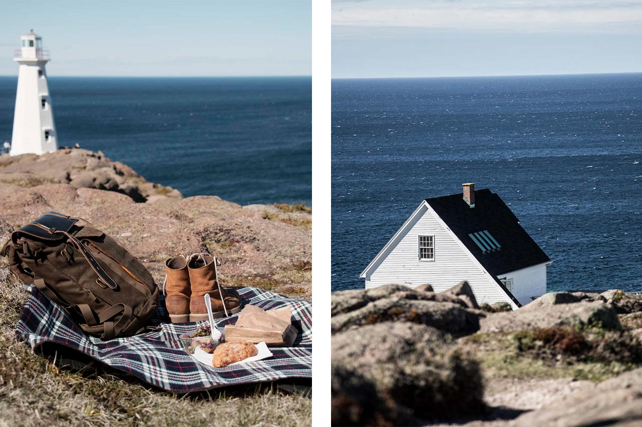 Picnic on the edge of a cliff