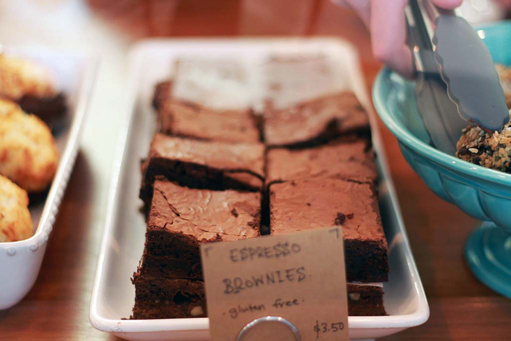 Brownies at Anchor Coffee