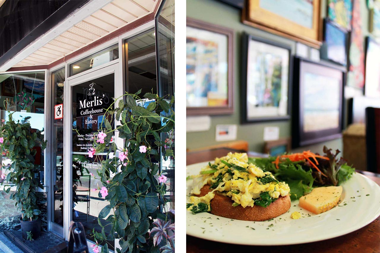 Delicious brunch at Merlis Coffeehouse & Eatery