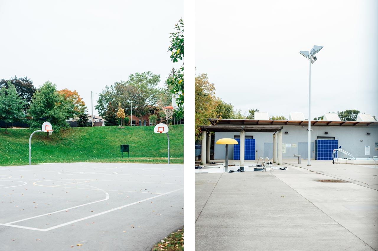 Pool and Basketball at christie pits