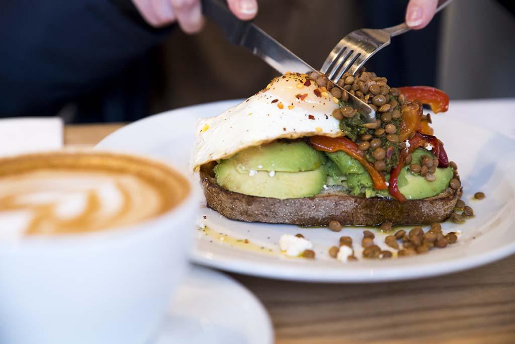 Saint James Espresso Avocado and Egg Sandwich