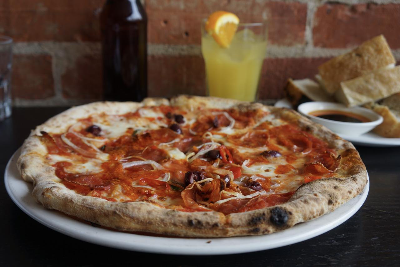 Classic pepperoni pizza at Libretto