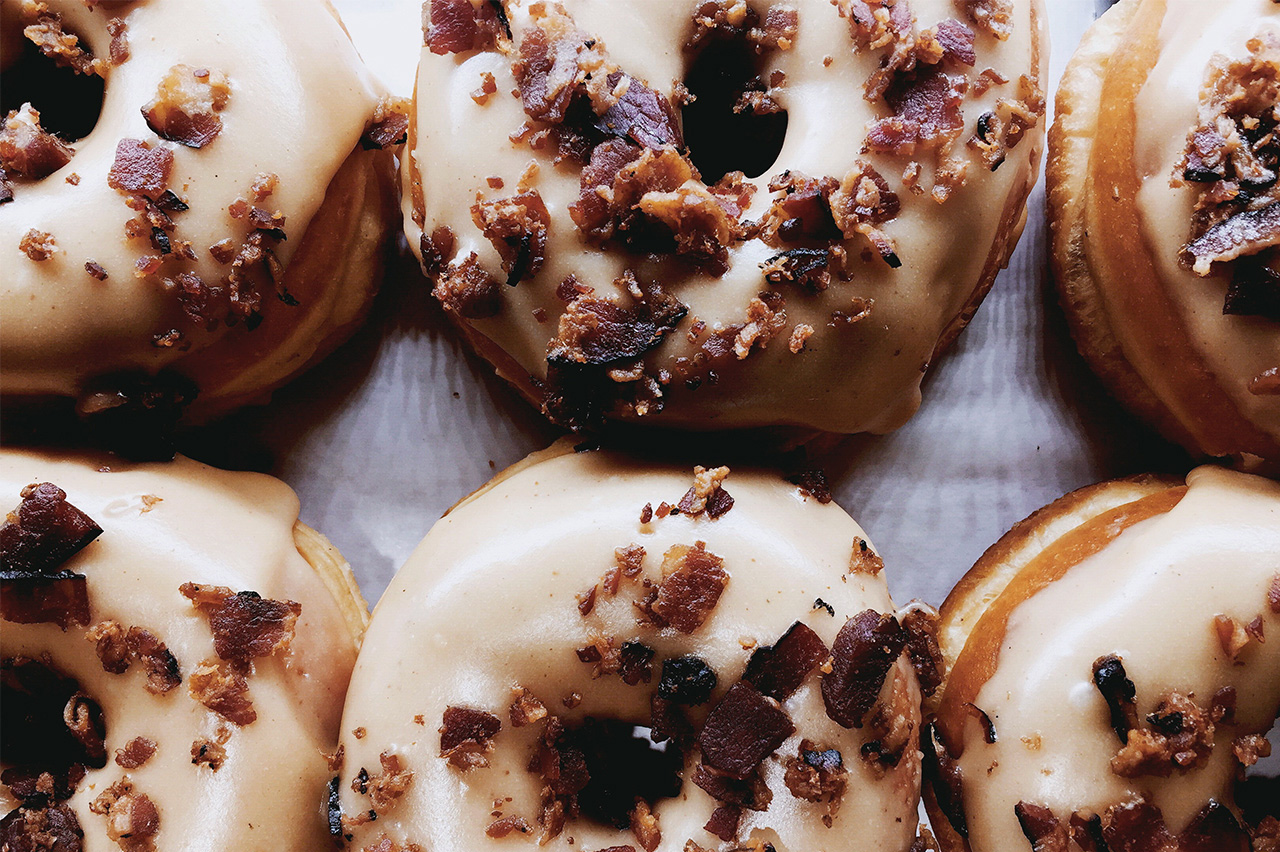 Maple Bacon Doughnuts at Suzy Q