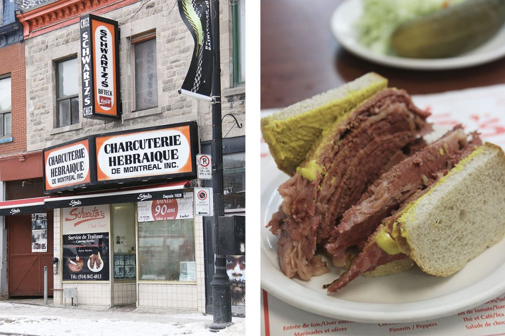 Schwartz's deli smoked meat Montreal