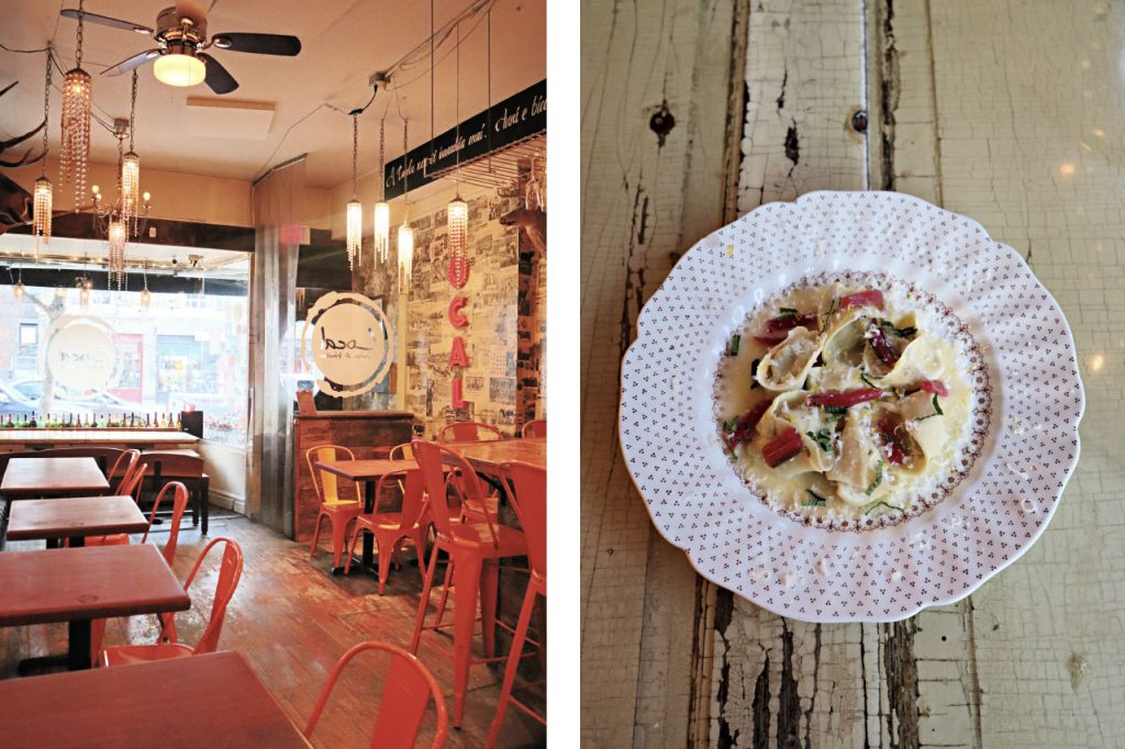 Images showing the ambience and food of pasta restaurant, Local in Toronto