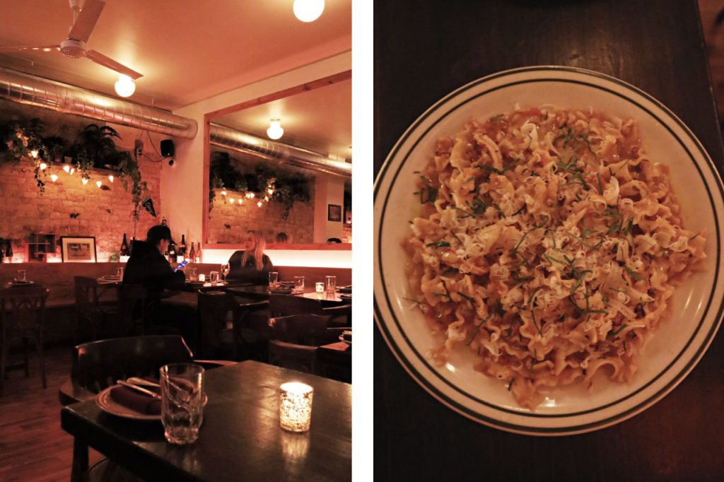 Images of pasta restaurant, Superpoint's ambience and food
